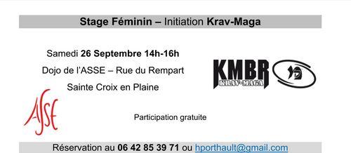 Affichette initiation Krav Maga Féminin
